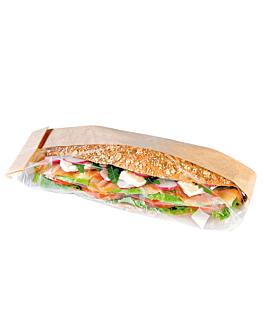 sacchetti per sandwiches 'corner window' 40 g/m2 12+6x38 cm naturale kraft (250 unitÀ)