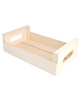 mini cajas 25x15x7,5 cm natural madera (20 unid.)