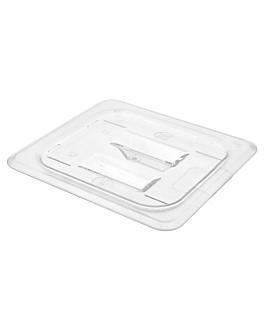 lid 1/6 for item 202.18 17,6x16,2 cm clear polycarbonate (1 unit)