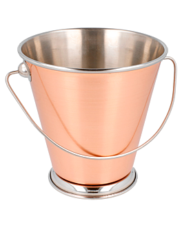 mini ice buckets Ø 12x12 cm copper stainless steel (12 unit)