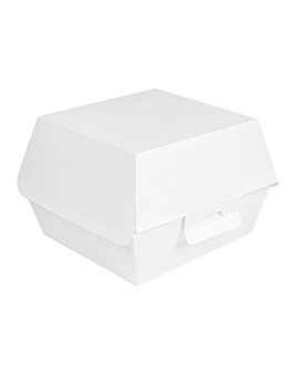 conchas hamburguesa 'thepack' 230 g/m2 14x12,5x9 cm blanco cartÓn ondulado nano-micro (500 unid.)