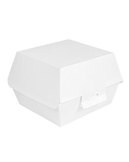 scatole hamburger 'thepack' 230 g/m2 13x12,5x9 cm bianco cartone ondulato a nano-micro (500 unitÀ)