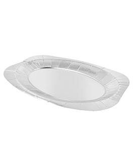 oval trays 600 g/m2 24x35 cm silver cardboard (100 unit)