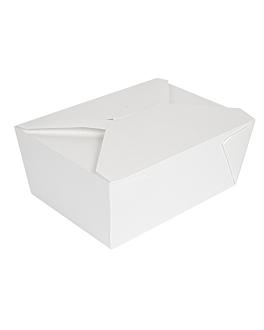 microwavable boxes rectangular 'thepack' 2880 ml 250 + 12pp gsm 19,6x14x9 cm white nano-micro corrugated cardboard (200 unit)
