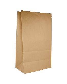 sos bags without handles 80 gsm 25+15x43,5 cm natural kraft (250 unit)