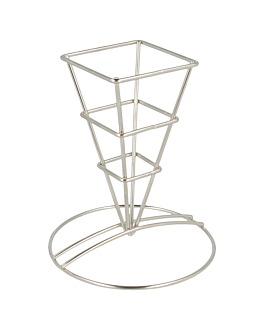 basket classique 6,4x13,3 cm argente inox (12 unitÉ)