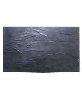 tablas gn 1/3 imitaciÓn pizarra 32,5x17,5 cm negro melamina (6 unid.)