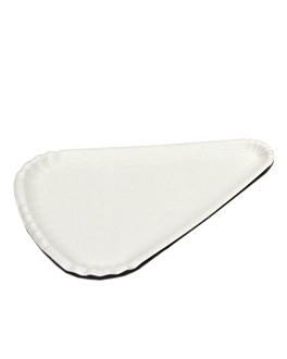 assiettes triangulaires À pizza 1/8 24x18 cm blanc carton (1000 unitÉ)