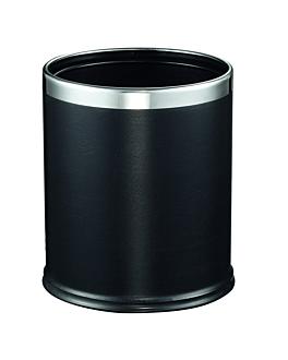 abfalleimer zimmer 'deluxe' 9 l Ø 22,5x27 cm schwarz stahl (1 einheit)