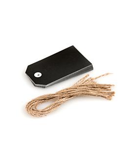 12 u. Étiquettes d'ardoise 5,1x9,2 cm noir carton (1 unitÉ)