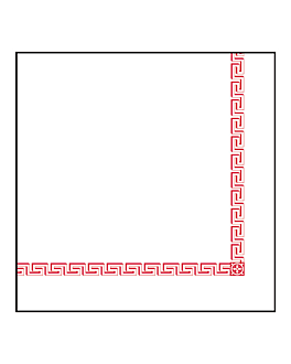 """serviettes """"grecque"""" 45 g/m2 40x40 cm blanc airlaid (700 unitÉ)"""