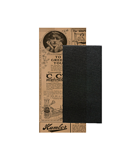 wrapped black napkins 'd.point' 40x32 cm 'just in time closed' 80 + 10pe gsm 11x25 cm natural 'times' kraft ribbed (300 unit)