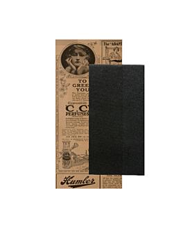 serviettes noires emb. 'd.point' 40x32 cm 'just in time closed' 40 + 10pe g/m2 11x25 cm naturel 'times' kraft vergÉ (300 unitÉ)