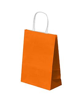 bolsas sos con asas 80 g/m2 26+14x32 cm naranja celulosa (250 unid.)