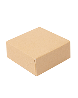 sushi boxes 'thepack' 220 gsm 10x10x4 cm brown nano-micro corrugated cardboard (400 unit)