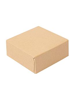 contenitori sushi 'thepack' 220 g/m2 10x10x4 cm marrone cartone ondulato a nano-micro (400 unitÀ)