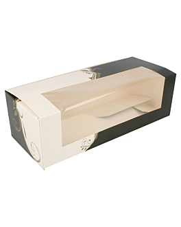 cake boxes with window 275 gsm 26x11x8 cm white cardboard (50 unit)