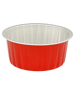 recipientes pastelerÍa 125 ml Ø8,5x3,5 cm rojo aluminio (100 unid.)
