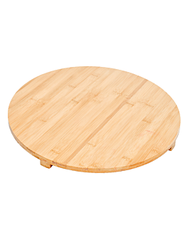 board with feet Ø 42 cm natural bamboo (1 unit)