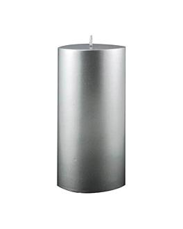 bougie cylindrique 7,5x15 cm argente paraffine (1 unitÉ)