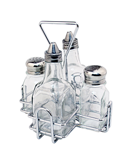 dressing set - 4 pieces 16x14x17,6 cm silver stainless steel (1 unit)