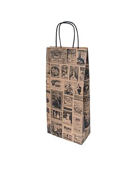 sacchetti sos con manici 2 bottiglie 'bacchus' 100 g/m2 18+10x39 cm naturale kraft (250 unitÀ)