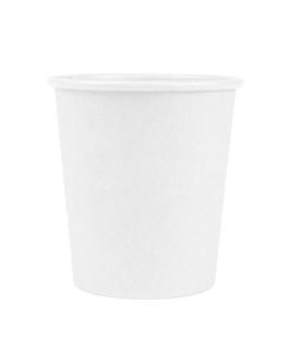 pequeÑas tarrinas 120 ml 210 + 18 pe g/m2 Ø6,15/4,5x6,5 cm blanco cartoncillo (1000 unid.)