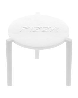 pizza tripods Ø 4,5x3,7 cm white pp (2000 unit)
