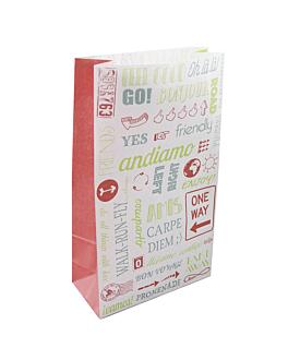 sos bags without handles 'parole' 80 gsm 25+15x43,5 cm white cellulose (250 unit)