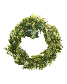 corona Ø 61 cm verde fibra ottica (1 unitÀ)