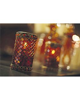 """lampes de table """"morocco"""" Ø 7,5x13 cm assorti verre (6 unitÉ)"""