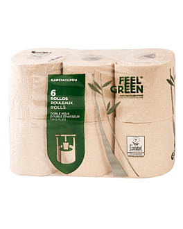 6 u. toilet paper rolls 2 ply 2x17 g/m2 10,5 cm (h) x 40 m natural recycled paper (1 unit)