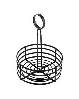 basket condiments Ø 15,5x20 cm noir fer (1 unitÉ)