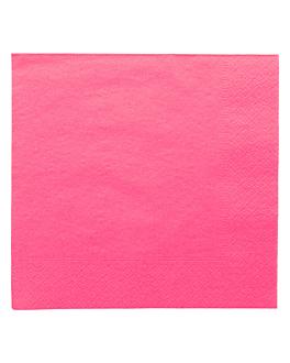 serviettes ecolabel 2 plis 18 g/m2 39x39 cm fuchsia ouate (1600 unitÉ)
