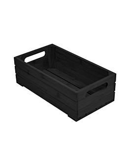 buffet box gn 1/3 32,5x17,6x10 cm black bamboo (1 unit)