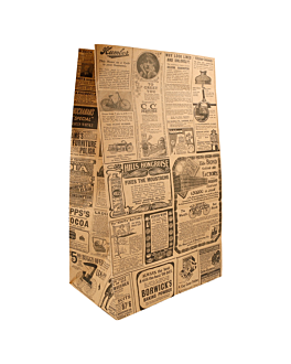 sos bags without handles 'times' 80 gsm 22+14x37 cm natural kraft (500 unit)