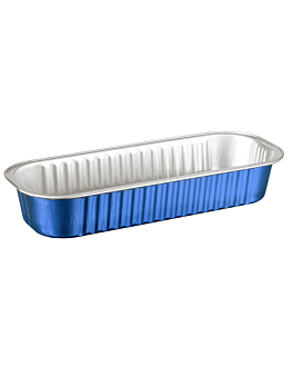 recipient patisserie 200 ml 16,5x6,5x3 cm bleu aluminium (100 unitÉ)