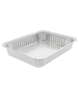 recipientes rectangulares 1100 ml 22,6x17,7x4 cm aluminio (700 unid.)