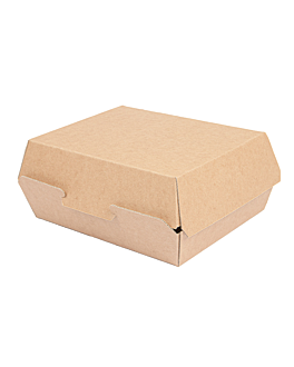 lunch box 'thepack' 220 gsm 22,5x17x8,5 cm natural nano-micro corrugated cardboard (300 unit)