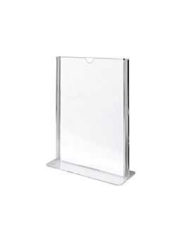 tabletop menu holders din-a6 10,5x14,8 cm clear ps (20 unit)