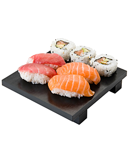 sushi base 15x15x2,5 cm black bamboo (1 unit)
