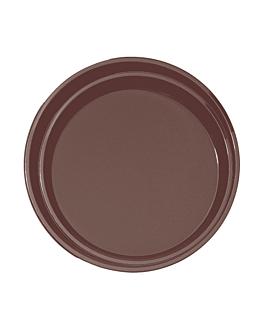 bandeja anti deslizante redonda Ø 35,5 cm castanho pp (1 unidade)