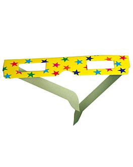 24 packs de 6 gafas infantiles 15,3x10,2 cm surtido papel (1 unid.)