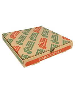corrugated eco-friendly pizza boxes 350 gsm 24x24x3 cm natural cardboard (100 unit)