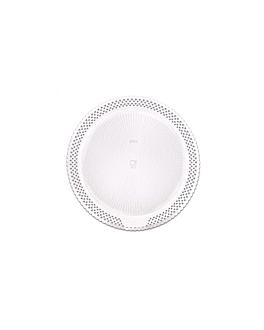 assiettes dentelÉes 'erik' Ø 23 cm blanc carton (100 unitÉ)