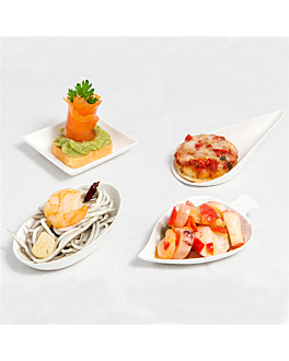 containers for appetizer 'bionic' white bagasse (1000 unit)