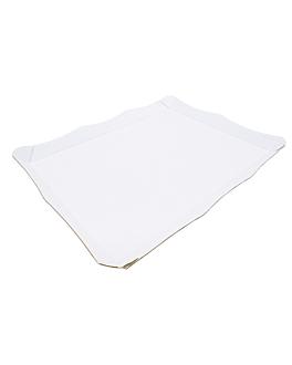 self-service tray corrugated 29x38 cm white microcanal (50 unit)