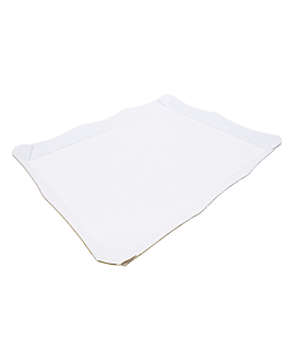 self-service tray corrugated 29x38 cm white microcanal (50 unit)