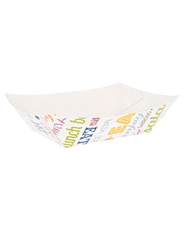 barquettes 'parole' 1200 g 275 g/m2 12x8,1x5,5 cm blanc carton (100 unitÉ)