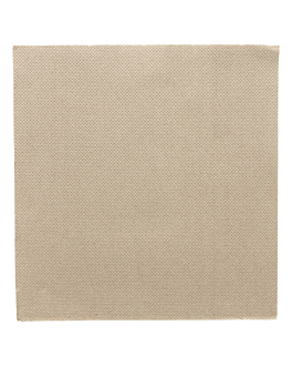 servilletas ecolabel 'double point' 18 g/m2 33x33 cm taupe tissue (1200 unid.)